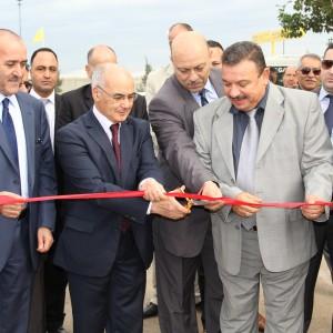 Monsieur Youcef Yousfi inaugure la 1ère Station-service GNC en Algérie.