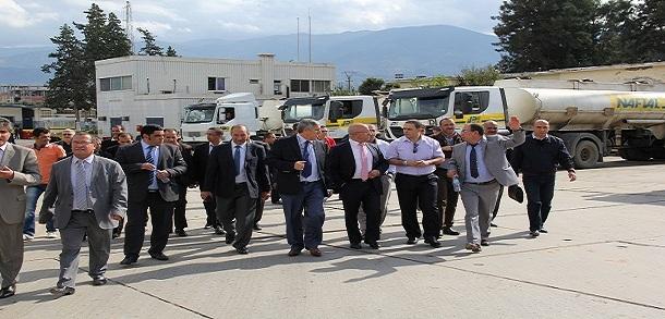 Le président Directeur Général inspecte les Districts de Naftal à Blida