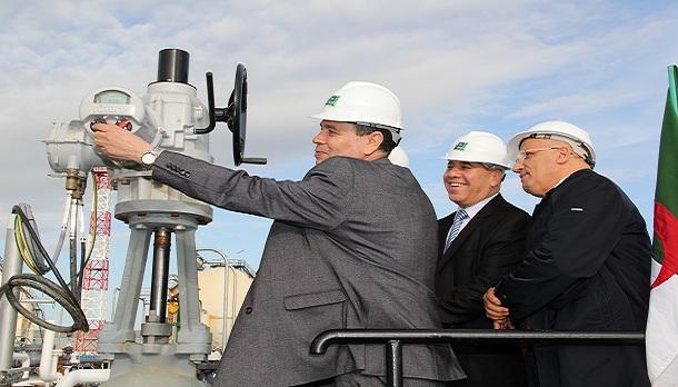 Le Ministre de l'Energie procède à l'inauguration des canalisations Carburants & GPL de Skikda-Berrahal