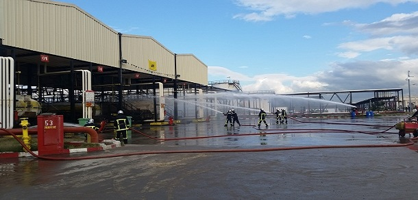 Exercice de simulation d'un incendie au District Carburants d'Alger