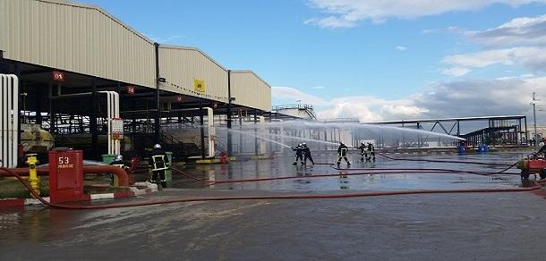 Exercice de simulation d'un incendie au District Carburants d'Alger