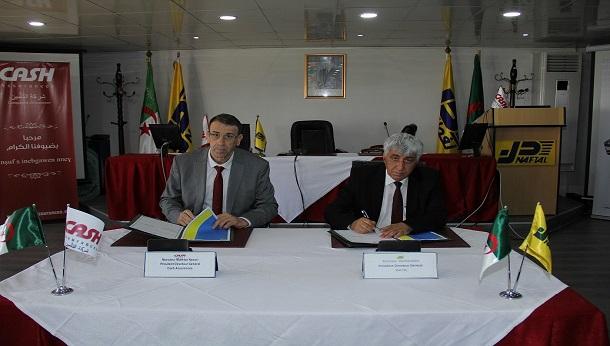 Signature d'un protocole d'accord entre NAFTAL et CASH Assurances